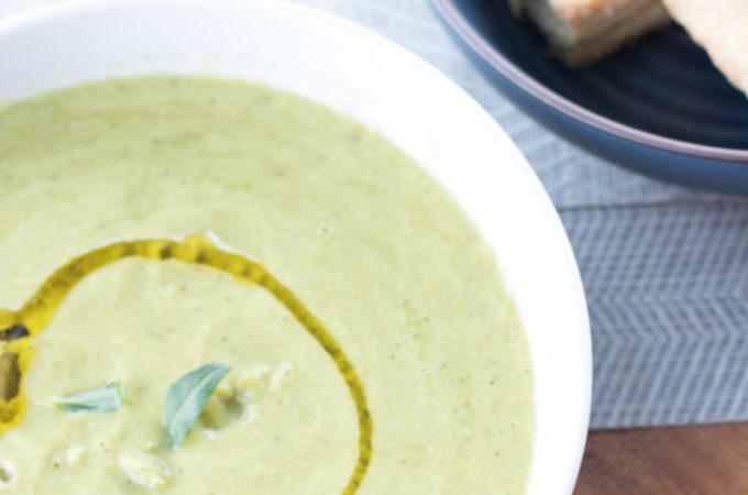 Roasted-Pea-and-Tarragon-Soup